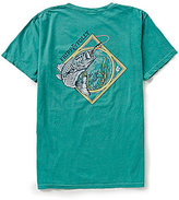 Fripp & Folly Men's Striped Bass Short-Sleeve Graphic Tee