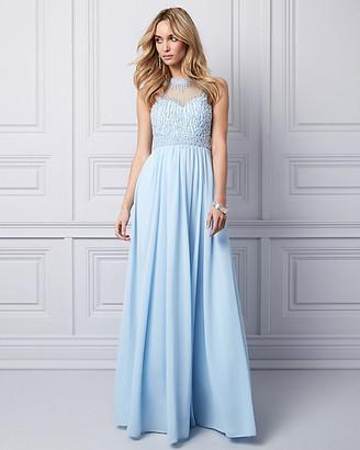 Le Château Embellished Chiffon Illusion Gown