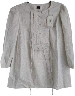Aigle Beige Cotton Top for Women