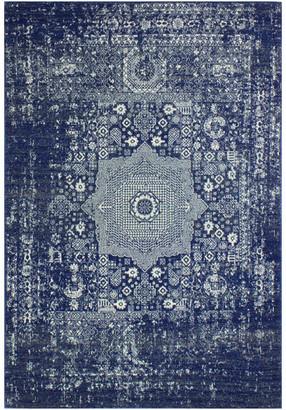 """Blue Area Bashian Fanny Dark Rug, 3'6""""x5'6"""""""