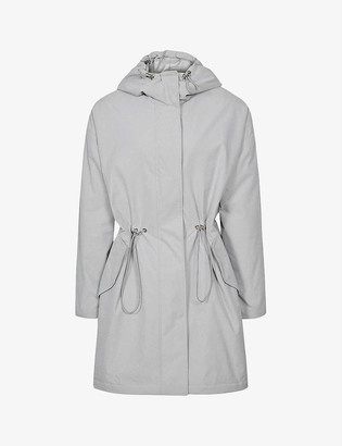 Reiss Ella hooded woven parka jacket
