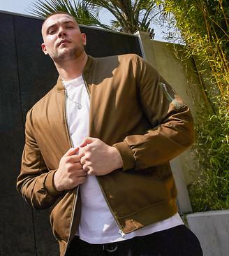 ASOS DESIGN Plus bomber jacket with MA1 pocket in khaki