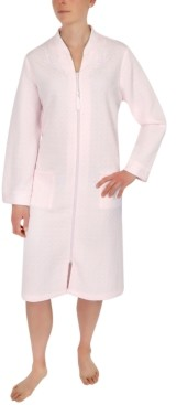 Miss Elaine Quilted Embroidered Zipper Robe