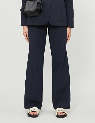 Me And Em Wide leg high-rise woven trousers