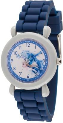 EWatchFactory Disney Frozen 2 Girls' Elsa Blue Silicone StrapWatch