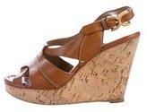 Chloé Slingback Wedge Sandals