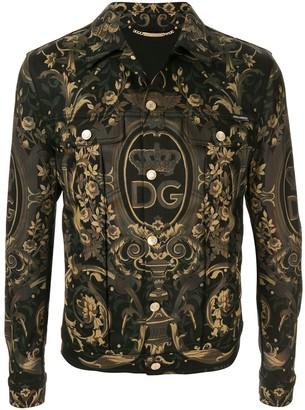 Dolce & Gabbana Graphic Print Denim Jacket