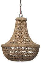 Jamie Young Company Jute Macrame 1-Light Chandelier in Antique Bronze