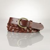 Ralph Lauren Leather Laced End-Bar Belt