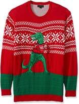 Blizzard Bay Men's Big and Trex Hates Sweater Ugly Christmas Sweater