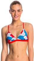 Speedo Water Supply and Stars Printed Tie Back Triangle Top 8136808