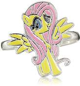 My Little Pony Girl's Brass Fine Silver-Plated This Flutter Shy Adjustable Ring