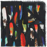 Paul Smith feather print scarf
