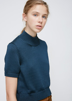 Rachel Comey Navy Cropped Knit Tee
