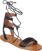 RED Valentino Studded Leather Flat Sandal