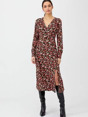 Very Floral Midaxi Button Through Dress - Floral Print