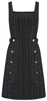Dorothy Perkins Womens Paper Dolls Grey Button Down Shift Dress, Grey