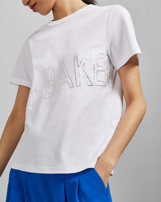 Ted Baker MALOM Branded foil cotton T-shirt