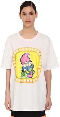 Moschino Troll Print Cotton Jersey T-shirt