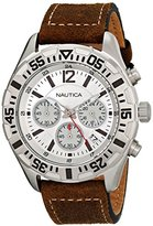 Nautica Men's N17668G NST 402 Analog Display Quartz Brown Watch