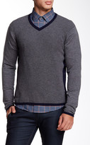 Zachary Prell Edgware Colorblock Wool Blend Sweater