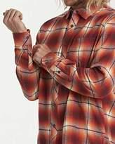 Billabong Men's Coastline Long Sleeve Flannel Shirt Red XXL