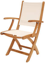 Hampton Teak & Weatherproof Fabric Folding Arm Chair