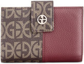 Giani Bernini Block Signature Patchwork Framed Wallet, Created for Macy's