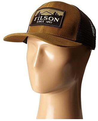 Filson Logger Mesh Cap (Dark Tan) Caps