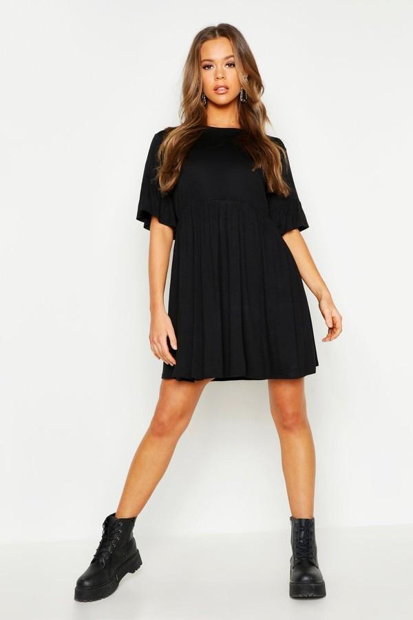 boohoo Frill Sleeve Smock Dress
