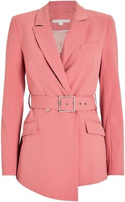 Jonathan Simkhai Tailored Wool-Blend Belted Blazer