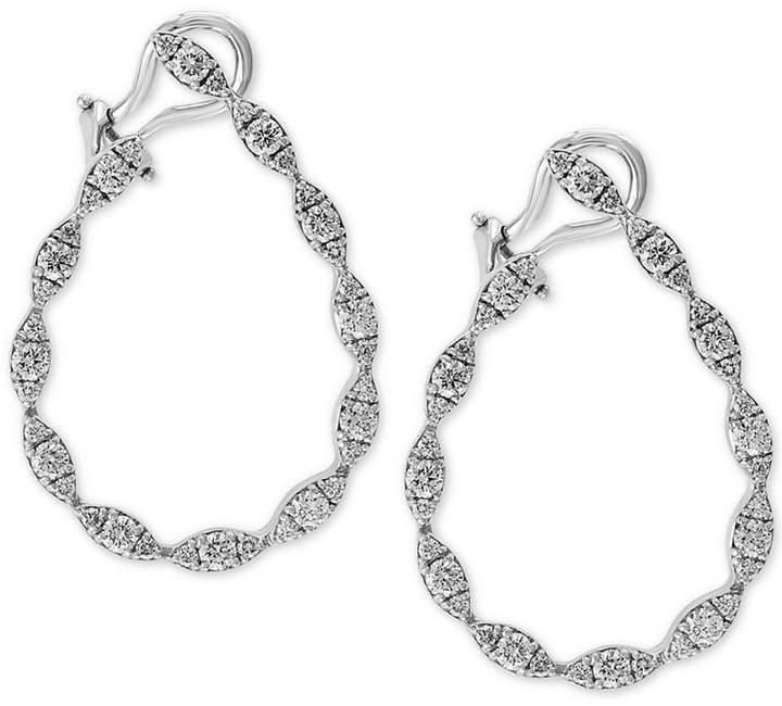 Effy Diamond Drop Earrings (1-5/8 ct. t.w.) in 14k White Gold