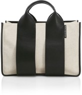 Alexander Wang Large Rocco Leather-Trimmed Canvas Satchel