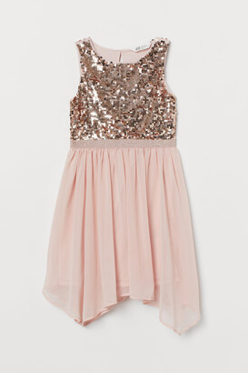 H&M Sequined Tulle Dress - Pink
