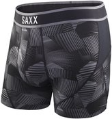 Saxx Men's Kinetic Performance Boxer Underwear Black XL
