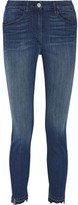 3x1 W3 Distressed High-rise Slim-leg Jeans - Dark denim