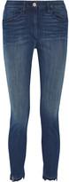 3x1 W3 Distressed High-rise Slim-leg Jeans - Dark denim