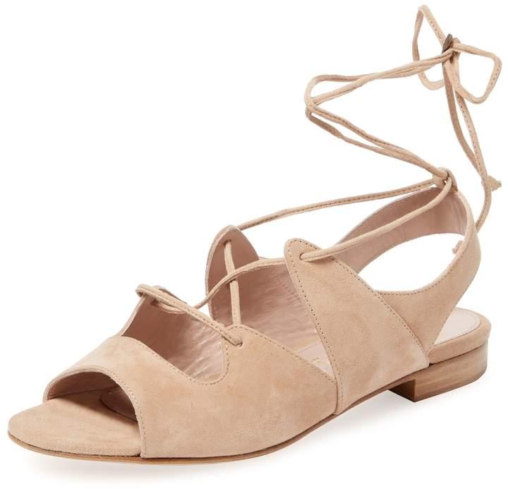 Aperlaï Women's Sarah Suede Lace-Up Sandal