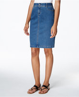 Charter Club Tummy-Control Denim Skirt, Only at Macy's