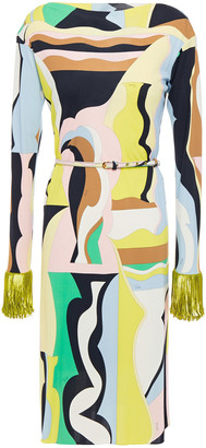 Emilio Pucci Embellished Printed Stretch-jersey Dress