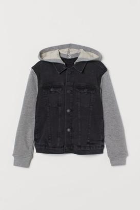 H&M Hooded Denim Jacket - Gray