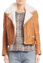IRO Noemie Leather Cropped Jacket