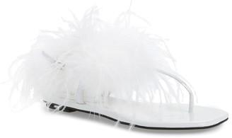 Jeffrey Campbell Boca Feather Flat Sandal