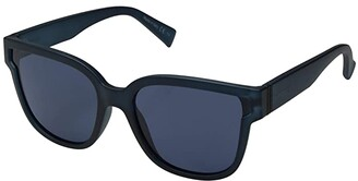 Von Zipper VonZipper Stranz (Navy Satin/Grey/Blue) Athletic Performance Sport Sunglasses
