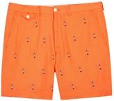 Polo Ralph Lauren Orange Embroidered Linen Shorts
