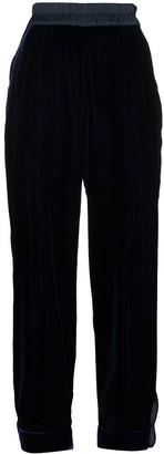 Emporio Armani Velour Track Pants