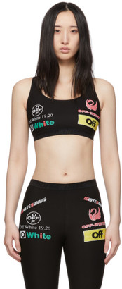 Off-White SSENSE Exclusive Black Multilogo Sporty Bra