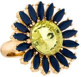 Kate Spade Crystal Flower Cocktail Ring