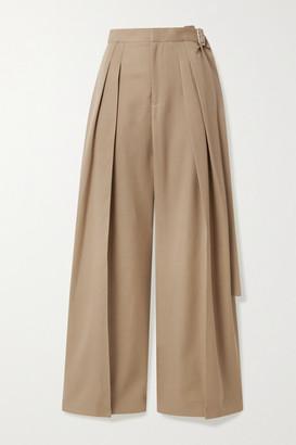 J.W.Anderson Belted Wool-twill Wide-leg Pants - Beige