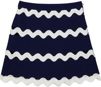 Milly Girl's Juliana Ricrac-Trim Skirt, Size 7-16